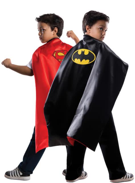 Chlapecký oboustranný plášť Superman/Batman