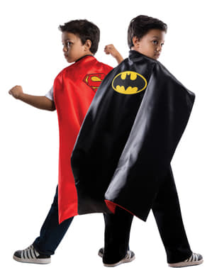 Cape réversible Superman Batman DC Comics enfant