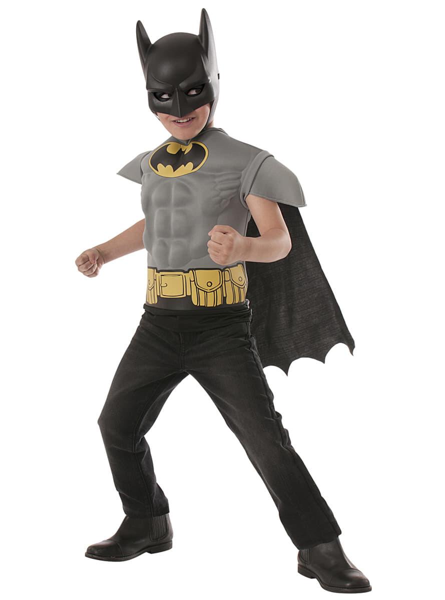 kit costume batman dc comics muscl enfant funidelia. Black Bedroom Furniture Sets. Home Design Ideas