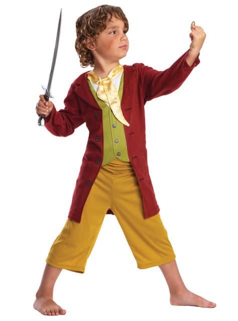 Disfraz de Bilbo Bolsón de El Hobbit en caja para niño