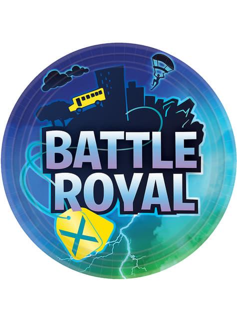 8 pratos Fortnite (23 cm)  - Battle Royal