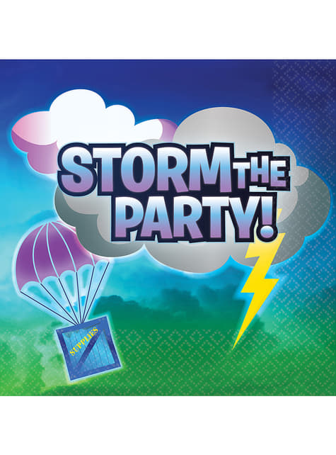 16 guardanapos Fortnite Storm the Party   - Battle Royal