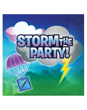 16 Fortnite Storm The Party Servietter - Battle Royal