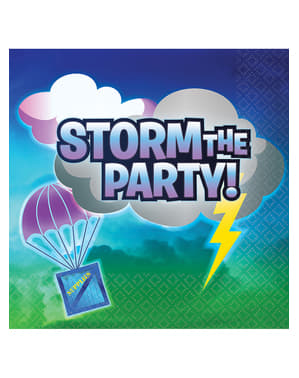 16 Serviettes en papier Fortnite Storm the Party   - Battle Royal