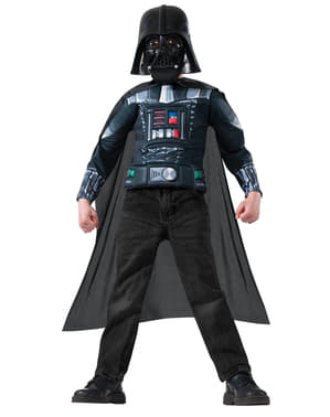 Zestaw kostium Darth Vader Star Wars umięśniony dla chłopca