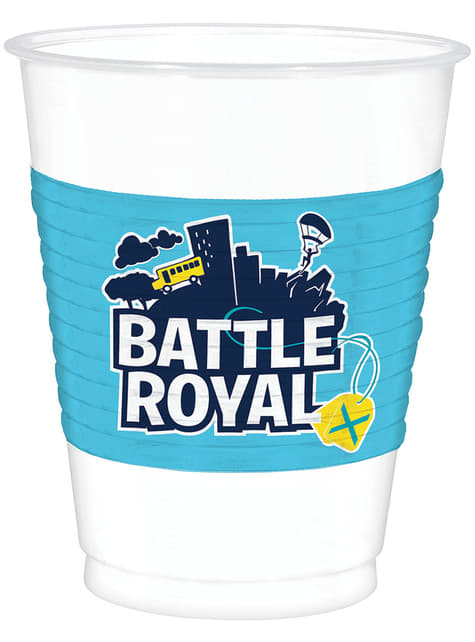 8 vasos de plástico Fortnite  - Battle Royale