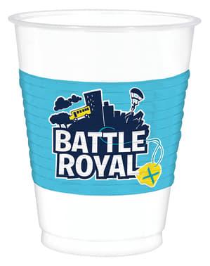 8 Fortnite plastových kelímků - Battle Royal