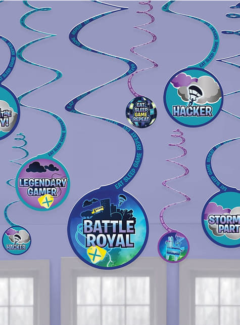 12-Piece Fortnite Hanging Decorations Kit - Battle Royal