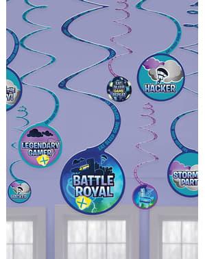12-Delers Fortnite Hengende Dekorasjonssett - Battle Royal
