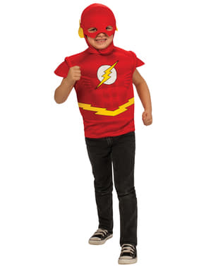 Kit disfraz de Flash DC Comics musculoso para niño