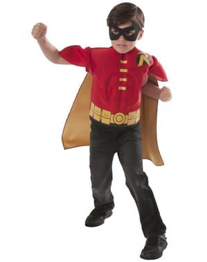 Kit fantasia de Robin DC Comics musculoso para menino