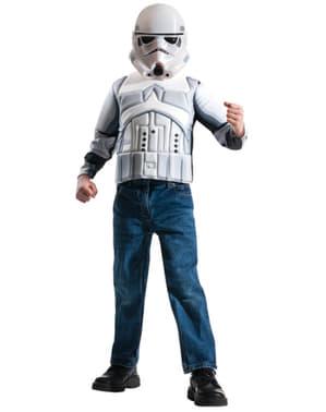 Kit disfraz de Stormtrooper Star Wars musculoso para niño en caja