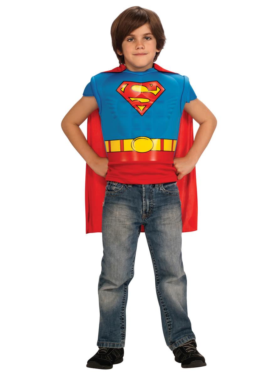muskul ses superman kost m set f r jungen funidelia. Black Bedroom Furniture Sets. Home Design Ideas