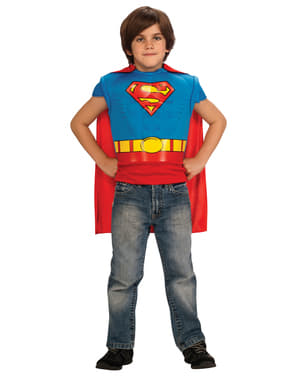 Set Maskeraddräkt Superman classic barn