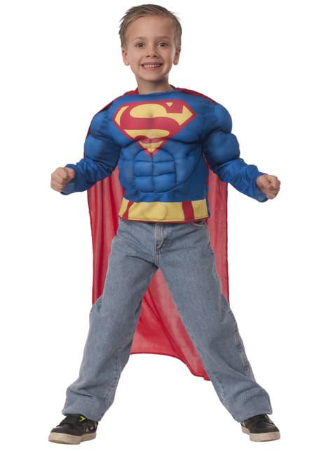 Kit disfraz de Superman musculoso en caja para niño