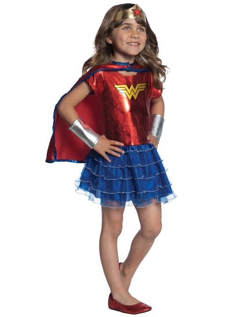 Disfraz de Wonder Woman DC Super Hero Girls con tutú para niña