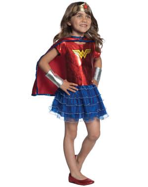 Costum Wonder Woman DC Super Hero Girls cu tutu pentru fată