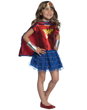 DC Super Hero Girls Wonder Woman Maskeraddräkt med tutu Barn