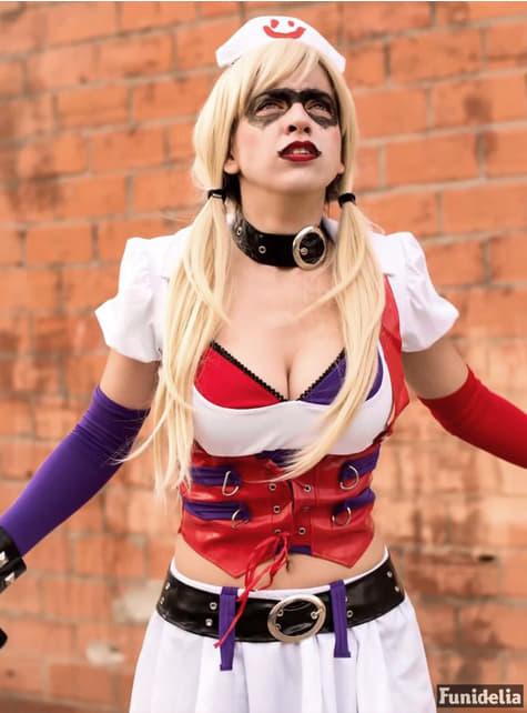 Fato de Harley Quinn Arkham City Asylum para mulher
