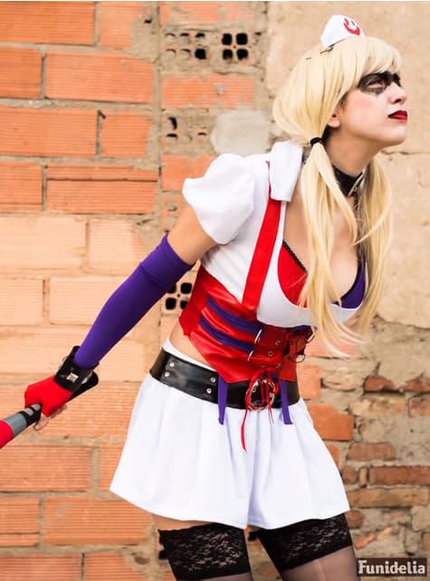Disfraz de Harley Quinn Arkham Asylum para mujer - original