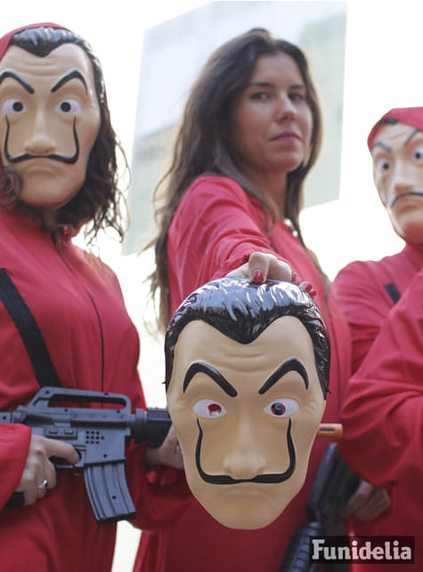 Máscara de Dalí - La Casa de Papel - Carnaval
