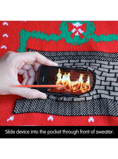 Jersey navideño de chimenea Digital Dudz - hombre