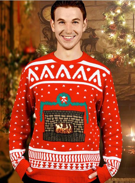 Jersey navideño de chimenea Digital Dudz - traje