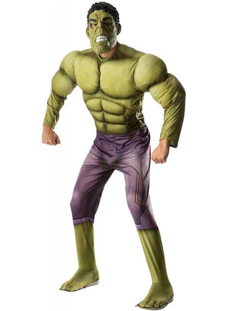 Disfraz de Hulk Vengadores: La Era de Ultrón deluxe para adulto