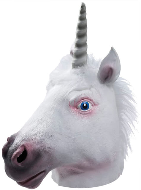 Maschera unicorno in lattice