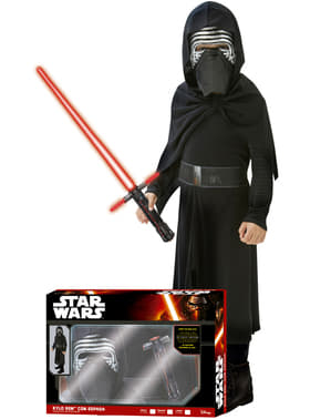 Boys Boxed Kylo Ren Star Wars Episode 7 Costume with Lightsabre