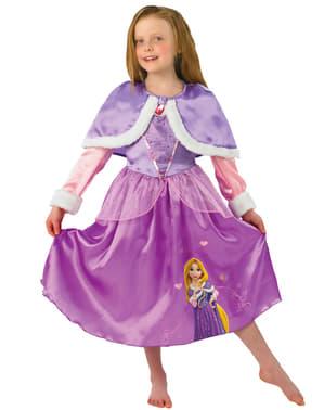 Kızlar Rapunzel Kış Kostümleri