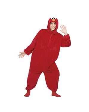 Disfraz de Elmo Barrio Sésamo onesie para adulto
