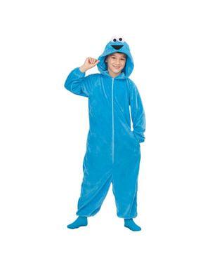 Sesamstraat Koekie monster onesie kostuum voor kinderen