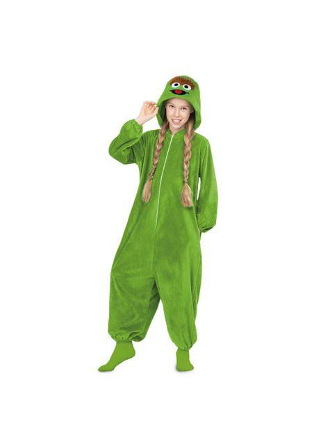 Sesame Street Oscar the Grouch Heldragt kostume til voksne