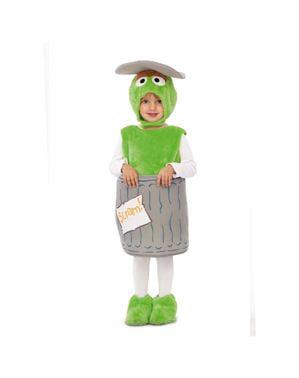 Costume Oscar il Brontolone Sesame Street per bambini