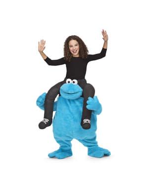 Huckepack Kostüm Krümelmonster für Kinder
