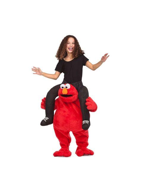 Sesamstraat Elmo Ride On kostuum voor kinderen