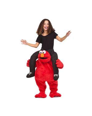 Huckepack Kostüm Elmo Sesamstraße für Kinder