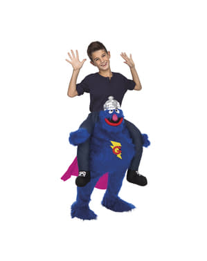 Carry Me Grover Sesame Street Costume for Kids