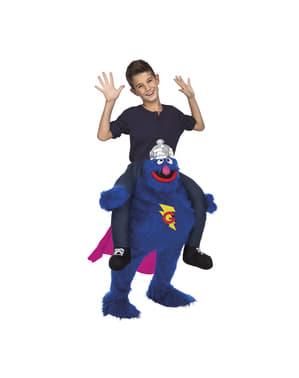 Draag me kostuum Grover Sesamstraat voor kinderen