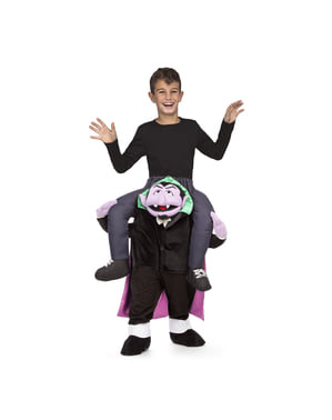 Huckepack Kostüm Graf Zahl Sesamstraße für Kinder