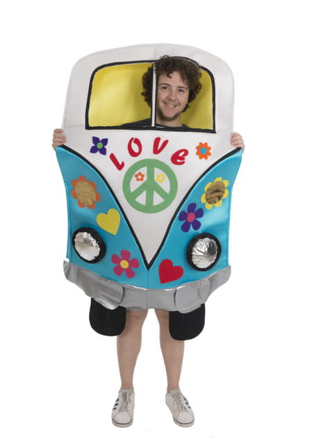 Disfraz de furgoneta hippy para adulto