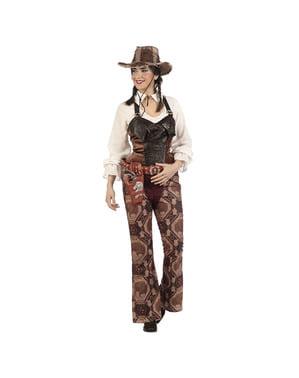Costume da cowgirl bandita grigio per donna