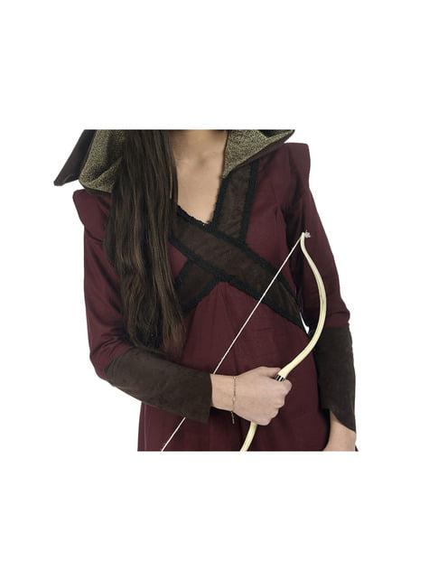 Disfraz de arquera medieval valiente para mujer - mujer