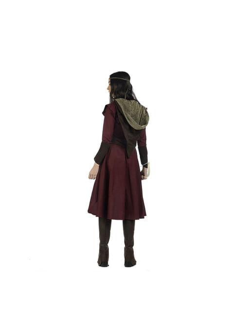 Disfraz de arquera medieval valiente para mujer - original