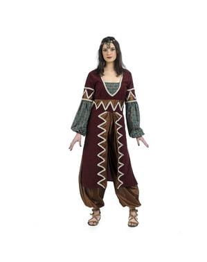 Fato de princesa árabe elegante para mulher