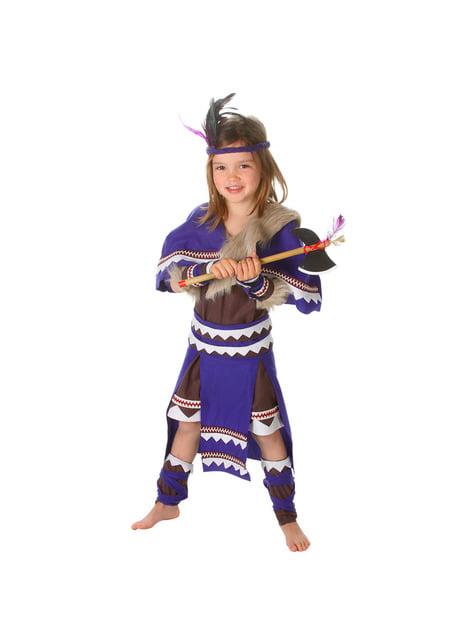 Disfraz de india guerrera para niña