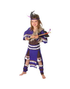 Costum de indiancă războinică pentru fată