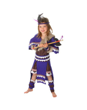 Strój Indiański Wojownik dla dziewczynek