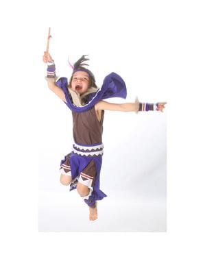 Indianerkriegerin Kostüm für Mädchen